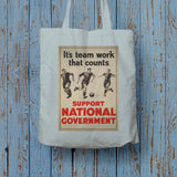 It's teamwork that counts Long Handled Tote Bag (Lifestyle)