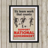 It's teamwork that counts Black Framed Print (Lifestyle)