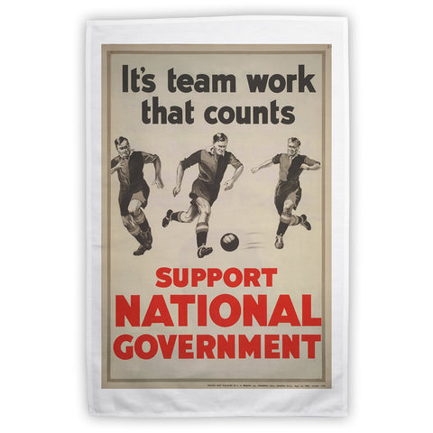 It's teamwork that counts Tea Towel