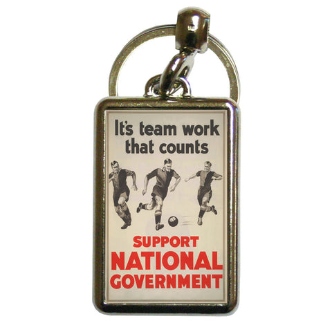 It's teamwork that counts Metal Keyring