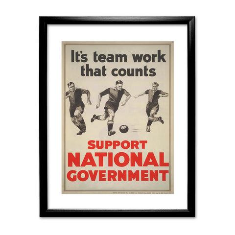 It's teamwork that counts Black Framed Print