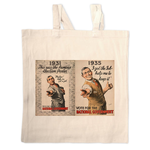 1931: This was the famous election poster Long Handled Tote Bag