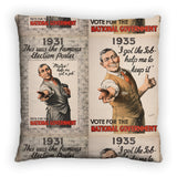 1931: This was the famous election poster Feather Cushion
