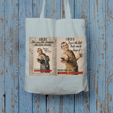 1931: This was the famous election poster Long Handled Tote Bag (Lifestyle)