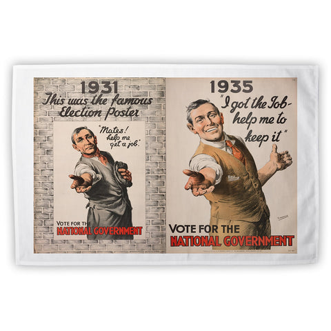 1931: This was the famous election poster Tea Towel