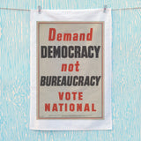 Demand democracy not bureaucracy Tea Towel (Lifestyle)