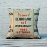 Demand democracy not bureaucracy Feather Cushion (Lifestyle)