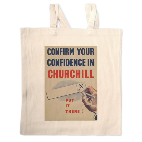 Confirm your confidence in Churchill! Vote National Long Handled Tote Bag