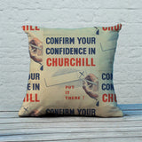 Confirm your confidence in Churchill! Vote National Feather Cushion (Lifestyle)