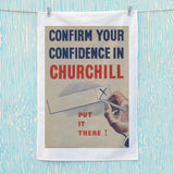 Confirm your confidence in Churchill! Vote National Tea Towel (Lifestyle)