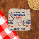 Confirm your confidence in Churchill! Vote National Cork Coaster (Lifestyle)