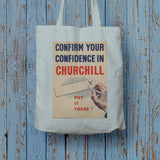 Confirm your confidence in Churchill! Vote National Long Handled Tote Bag (Lifestyle)