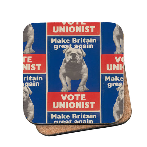 Make Britain great again Cork Coaster