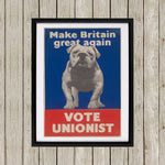Make Britain great again Black Framed Print (Lifestyle)