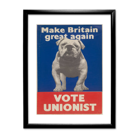 Make Britain great again Black Framed Print