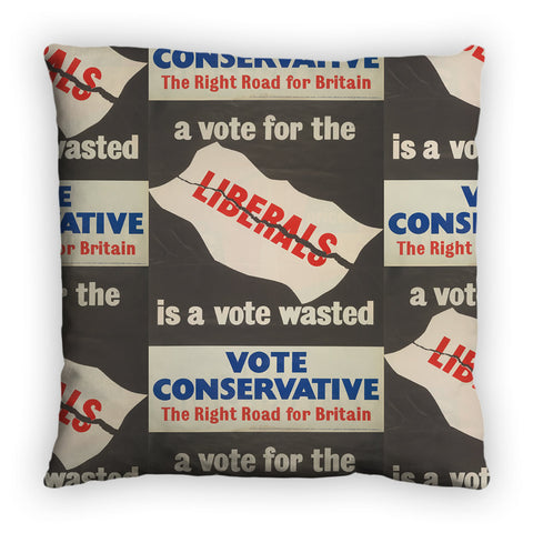 A vote for the Liberals is a vote wasted Feather Cushion