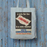 A vote for the Liberals is a vote wasted Long Handled Tote Bag (Lifestyle)