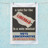 A vote for the Liberals is a vote wasted Tea Towel (Lifestyle)