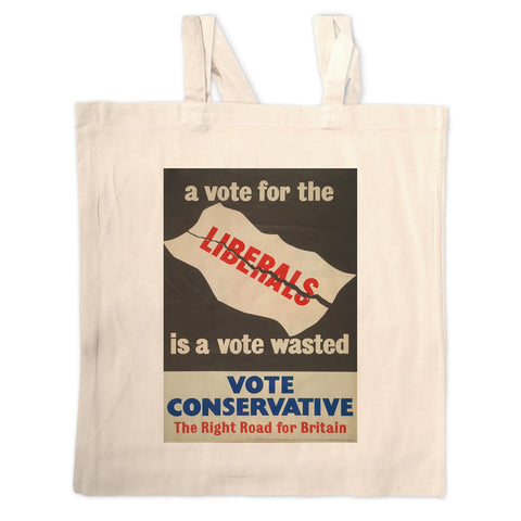 A vote for the Liberals is a vote wasted Long Handled Tote Bag