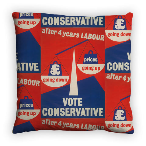 After four years of Labour pound down, prices up Feather Cushion