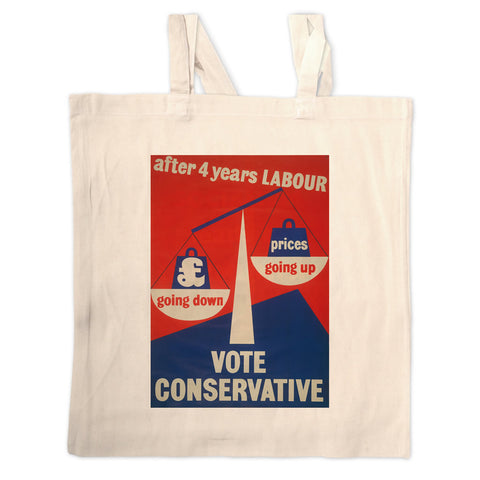 After four years of Labour pound down, prices up Long Handled Tote Bag