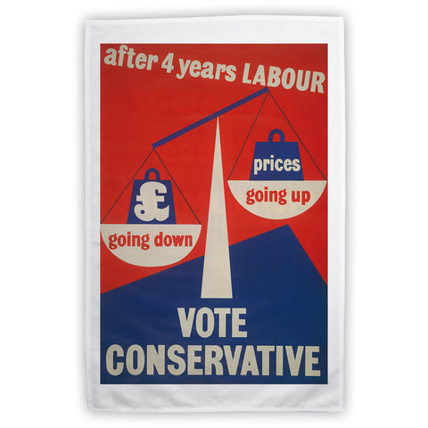 After four years of Labour pound down, prices up Tea Towel