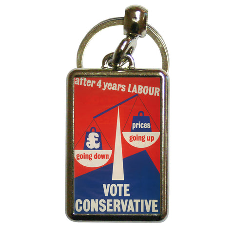 After four years of Labour pound down, prices up Metal Keyring