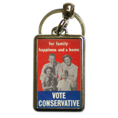 For family happiness and a home Metal Keyring