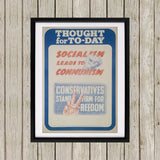 Thought for today: Socialism leads to Communism Black Framed Print (Lifestyle)