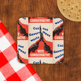 Cut out government waste. Vote Conservative Cork Coaster (Lifestyle)