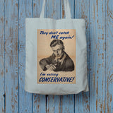 They don't catch me again!  Long Handled Tote Bag (Lifestyle)