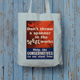 Don't throw a spanner in the steel works Long Handled Tote Bag (Lifestyle)