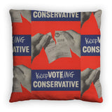 Keep voting Conservative Feather Cushion