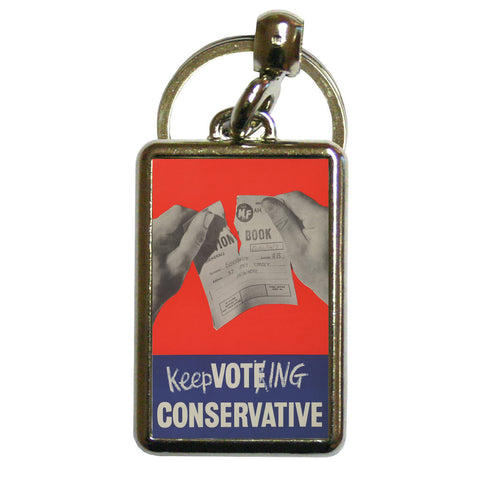 Keep voting Conservative Metal Keyring