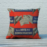 Keep voting Conservative Feather Cushion (Lifestyle)