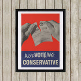 Keep voting Conservative Black Framed Print (Lifestyle)