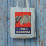 Keep voting Conservative Long Handled Tote Bag (Lifestyle)