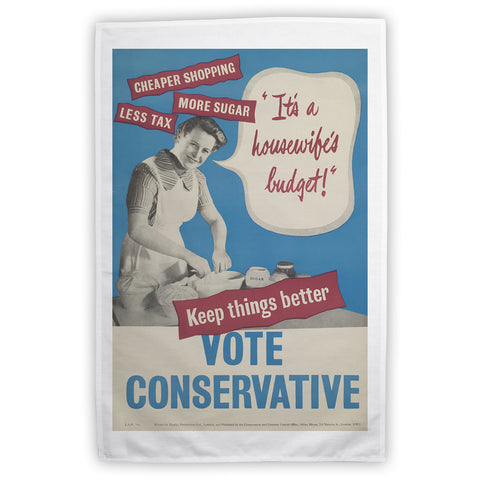 """It's a housewife's budget!"" Tea Towel"