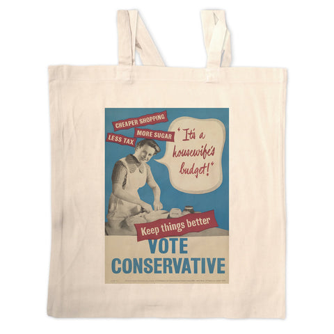 """It's a housewife's budget!"" Long Handled Tote Bag"