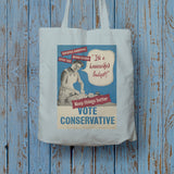 """It's a housewife's budget!"" Long Handled Tote Bag (Lifestyle)"