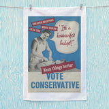 """It's a housewife's budget!"" Tea Towel (Lifestyle)"