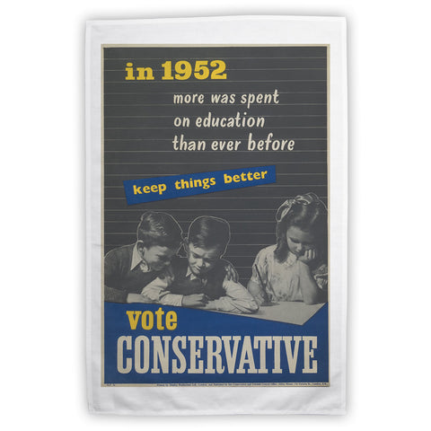In 1952 more was spent on education than ever before Tea Towel