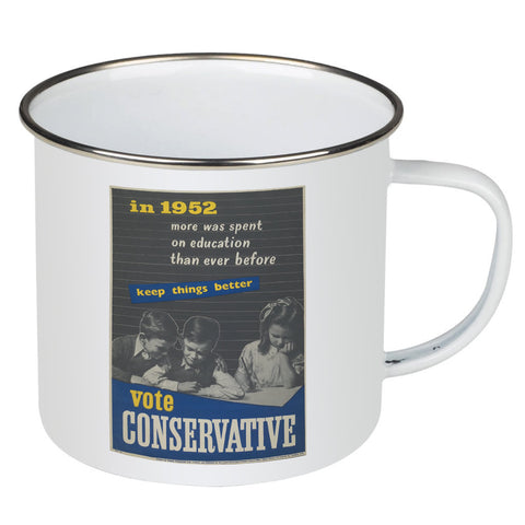 In 1952 more was spent on education than ever before Enamel Mug