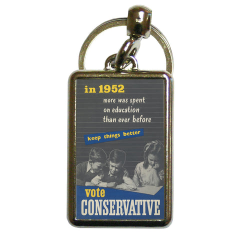 In 1952 more was spent on education than ever before Metal Keyring