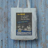 In 1952 more was spent on education than ever before Long Handled Tote Bag (Lifestyle)