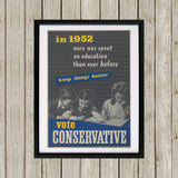 In 1952 more was spent on education than ever before Black Framed Print (Lifestyle)