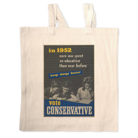 In 1952 more was spent on education than ever before Long Handled Tote Bag