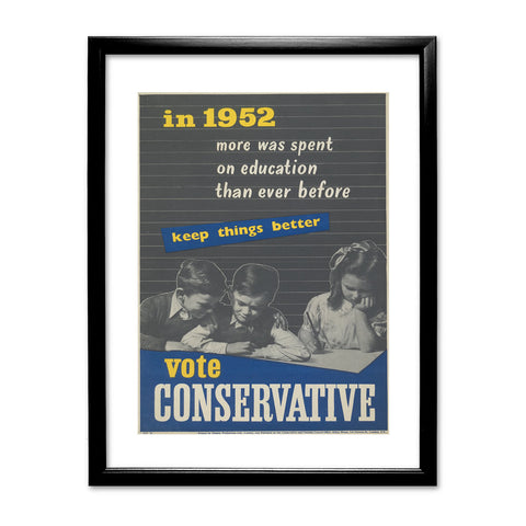 In 1952 more was spent on education than ever before Black Framed Print