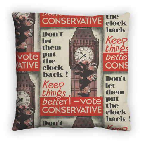Don't let them put the clock back! Feather Cushion