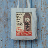 Don't let them put the clock back! Long Handled Tote Bag (Lifestyle)